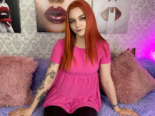 18 petite white female fire red hair brown eyes ArielRoss chat room